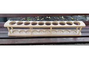 Подставка для бутылок деревянная на 10 бутылок
