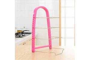 Подставка для сковородок, крышек тарелок кастрюль розовый Kronos Top (frs_124024)
