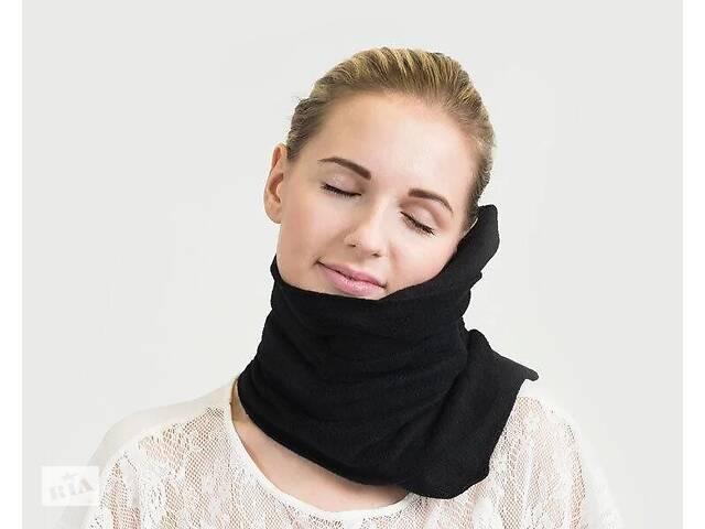 бу Подушка-шарф Supretto Travel Pillow для путешествий, черный (5071) в Киеве