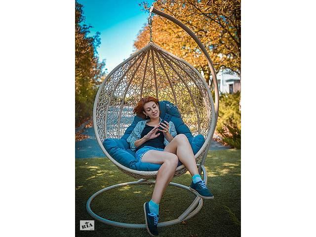 Подвесное садовое кресло качели кокон капля шар плетеное из ротанга Украинские Конструкции Эмилия / Emilia- объявление о продаже  в Киеве