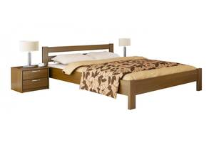 Двуспальная кровать Estella Рената Массив 2Л4 160 см х 200 см Орех светлый