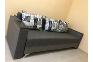 Прямой диван Кама Провентус Мираж 220x85 Спальное 140х190 Серый Бесплатная доставка по Украине