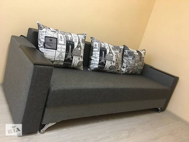 бу Прямой диван Кама Провентус Мираж 220x85 Спальне 140х190 Серый в Хмельницком