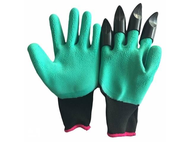 продам Садовые перчатки Good Idea с когтями Garden Genie Glovers Зеленый (hub_joYz99157) бу в Киеве