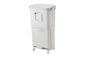 Сенсорное мусорное ведро Supretto выдвижное на колесиках (6037)