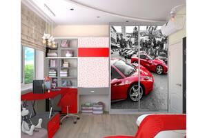 Шафа- купе з тематичними малюнками з безкоштовною доставкою!
