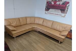 Кожаный угловой диван, мебель из Европы
