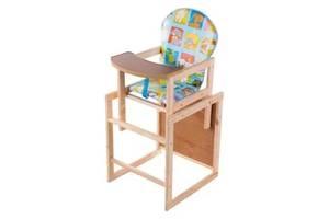 Стілець стіл для годування деревяний. НАЛОЖКА