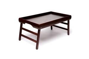 """Столик для завтрака в постели BST 710059 венге 52х32см. """"Темный венге"""""""