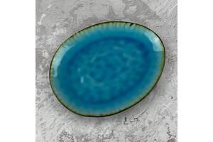 Тарелка овальная OLens Голубая лагуна JM-0954-T 27 см