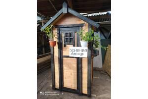 """Туалет """"Классически"""" дачный из дерева ( для дачи, уличный )"""
