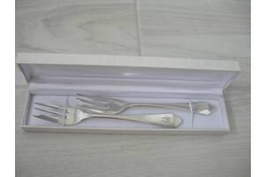 Вилки для десерта, 2 шт, серебро, Германия, старинные