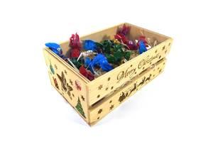 Ящик деревянный новогодний Мастерская мистера Томаса 15х25х9.5см дерево, лак