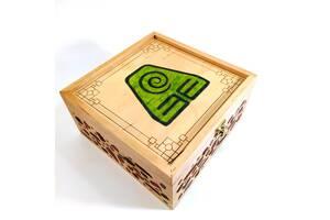 Ящик с крышкой Avatar земля 19,8х19,8х10,8 см Мастерская мистера Томаса Дерево Лак