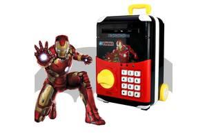 Іграшковий дитячий сейф Joy Toy Супергерої Iron Man Залізна Людина валізу на колесах скарбничка з електронним кодовим. ..