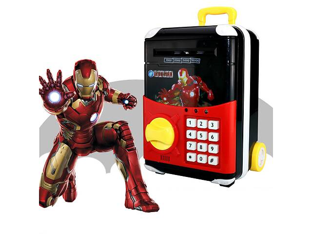 Игрушечный детский сейф Joy Toy Супергерои Iron Man Железный Человек чемодан на колесах копилка с электронным кодовым...- объявление о продаже  в Одессе