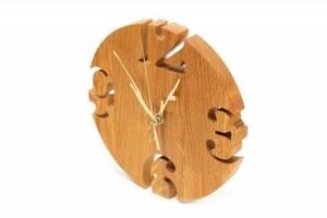 Интерьерные настенные деревянные часы дизайнерские Модерн Ручная Работа ТМ Просто и Легко 19на2 см SKL12-265761