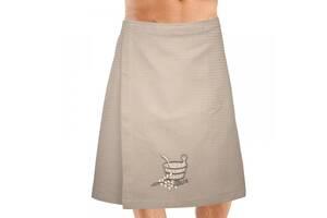 Юбка (килт) для бани сауны мужская вафельная с вышивкой