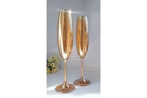 Набор бокалов для шампанмкого Bohemia Milvus 250 ml (цвет: ЯНТАРНЫЙ)