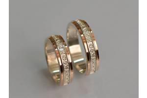 Пара Обручальных Колец.Серебро 925 и Золотая пластина 375 проба. Спаси и Сохрани