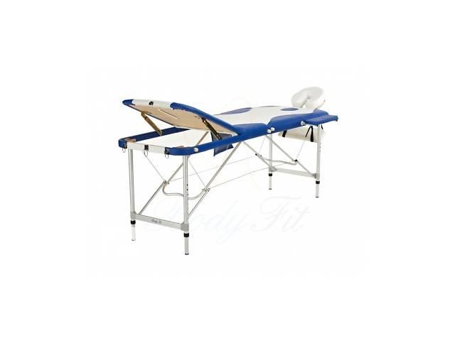 бу Алюминиевый 3-х сегментный стол для массаж белый-синий в Львове