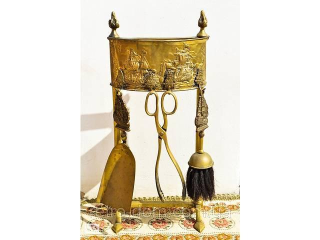 Старинный набор для камина! Бронза. Корабли! Germany! Art. retr-554357221- объявление о продаже  в Киеве