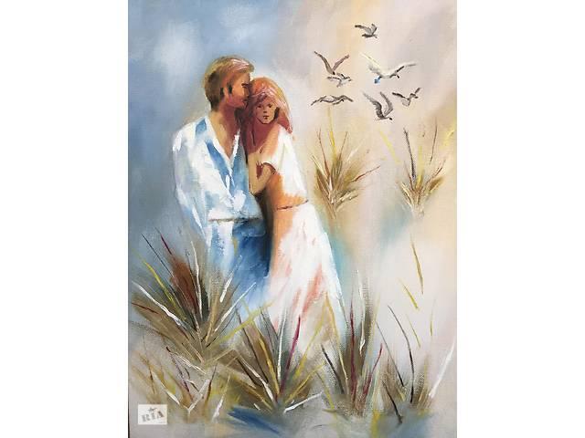 продам Картина маслом романтическая пара 30х40 бу в Одессе