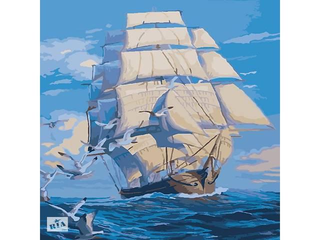 """Морской пейзаж  """"На всех парусах"""" 40*40 KHO2708- объявление о продаже  в Одессе"""