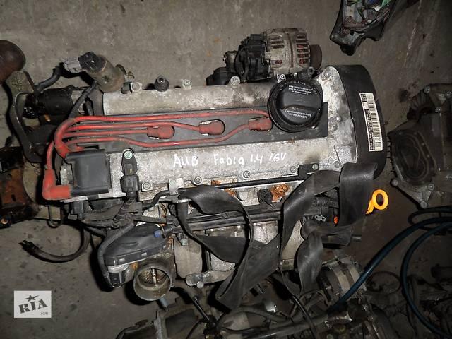 купить бу Б/у Двигатель Skoda Fabia 1,4 бензин 16V № AUB в Стрые