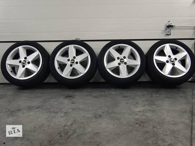 бу Б/у диски з шиною для легкового авто Chevrolet Epica,Evanda,Lacetti диски R17 ET49  4x114.3 Шини Hankook 215/50 R17 в Львове