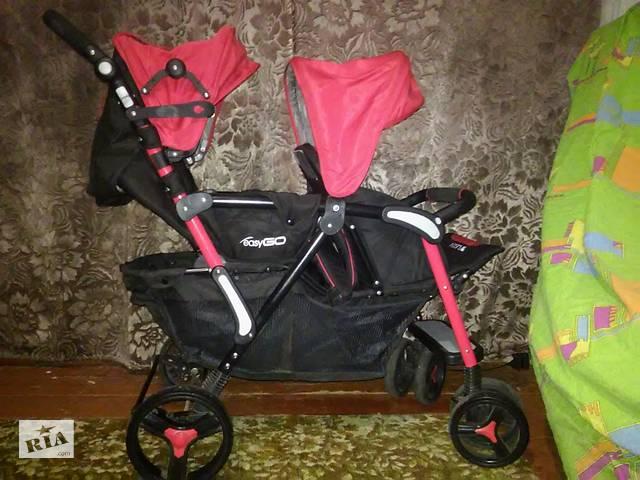 купить бу Продам детскую коляску для двойни EasyGo Fusion Duo.  в Коростене