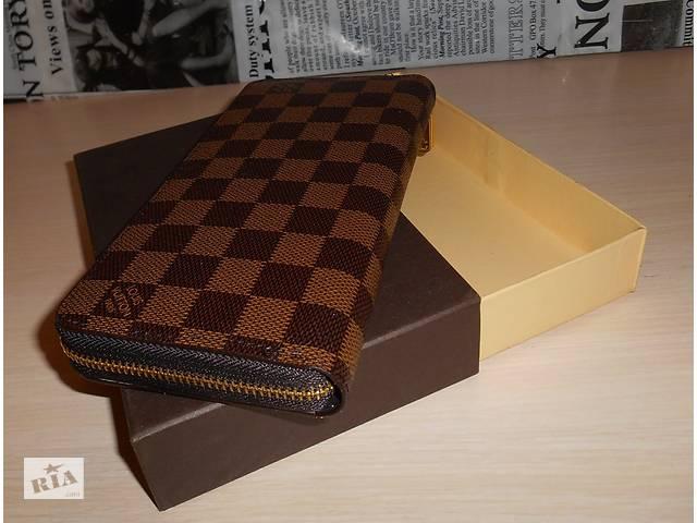 2cb4e7cb900a бу Кошелек клатч, портмоне LV, Louis Vuitton, кожа, Франция Луи Виттон в