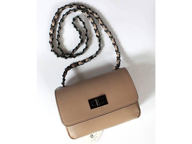 59bec767d285 продам Кожаная (сафьяновая кожа) бежевая мини сумка, Италия бу в Харькове