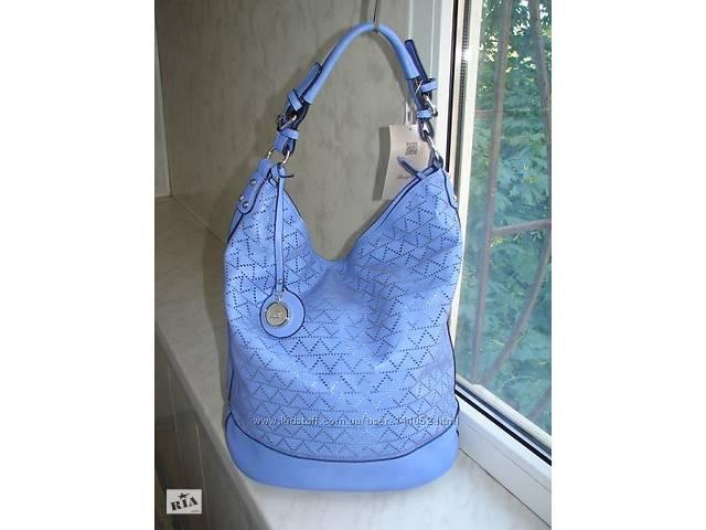 Модная сумка-торбинка с перфорацией лавандового цвета- объявление о продаже  в Одессе