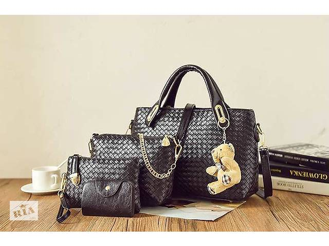 18e3a90a купить бу Подарочный набор женских сумок 4в1 с брелком мишка в Хмельницком