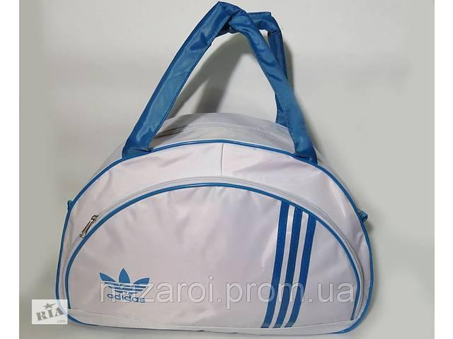 90f00e47b29d купить бу Спортивная женска сумка Adidas, белый/голубой реплика в  Южноукраинске