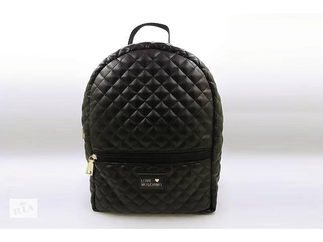 173270d1f5b2 купить бу Стёганый женский рюкзак Love Moschino, стильный портфель Москино,  цвет черный в Ровно