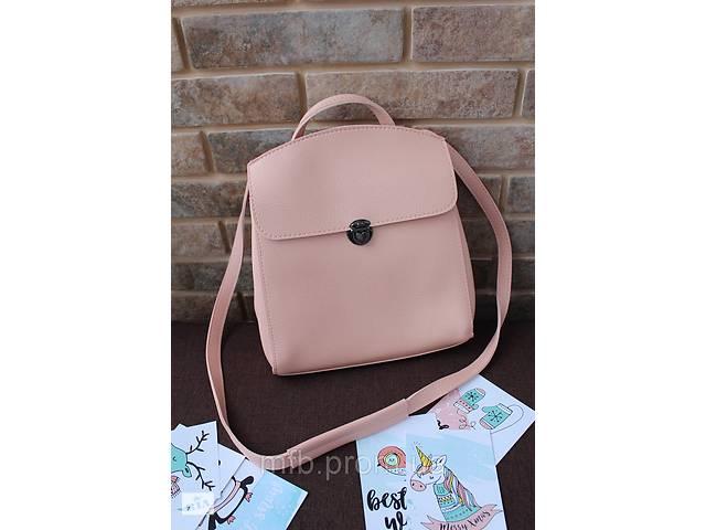 купить бу Стильный кожаный (кожа искусственная) женский рюкзак в Дубно