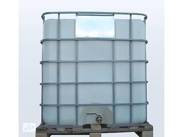 продам Ємність 1000 літрів бак, бочка Євро Куб для транспортування води, КАС перевезення в решітці з металевим краном бу в Києві