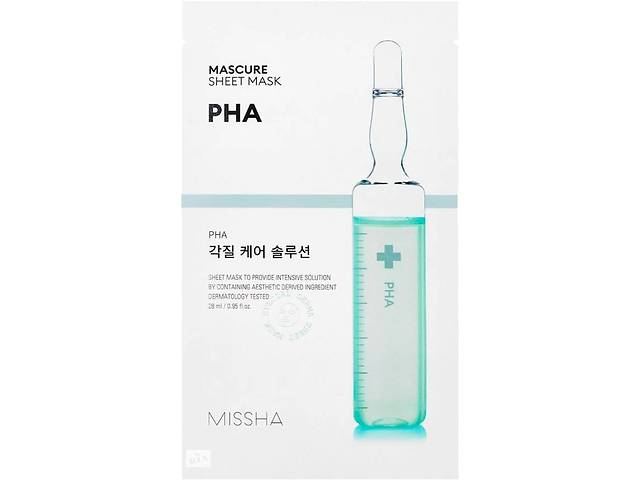 купить бу Маска-пилинг для лица Missha Mascure Peeling Solution Sheet Mask PHA, 27 мл в Києві