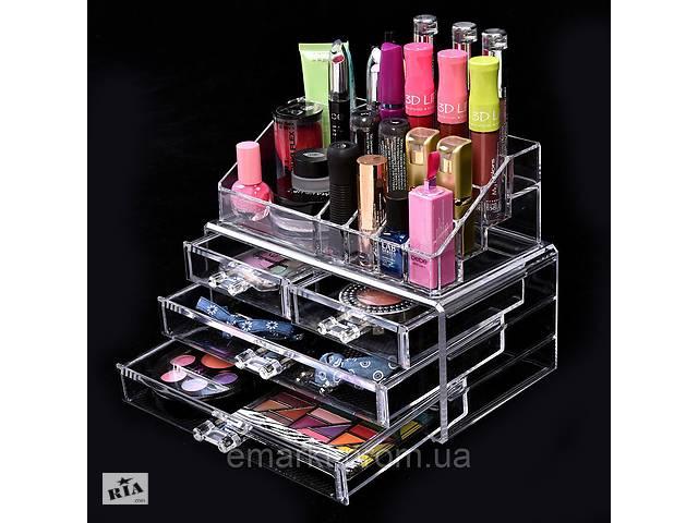 купить бу Настольный органайзер для косметики Cosmetic Organizer Makeup Container Storage Box 4 Drawer  в Украине