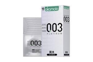 Супертонкие, суперпрочные японские презервативы. Okamoto (Окамото) 003 Platinum Оригинал Durex Contex
