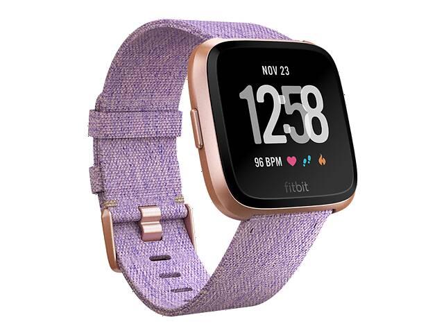 продам Умные часы с оптическим пульсометром Fitbit Versa (lavender woven) бу в Полтаве