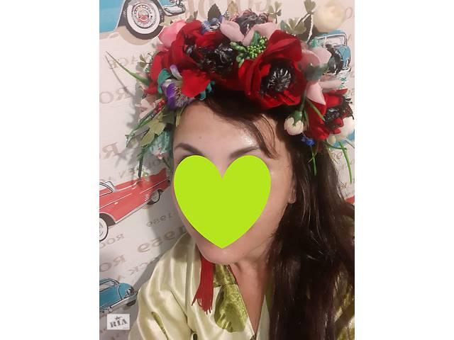 бу Венок розы, маки (ручная работа, эксклюзив) в Запоріжжі