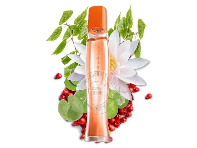 Женская туалетная вода Avon Summer White Sunset 50мл Восточный цветочный аромат  Приятный летний парфюм фруктовая нотка