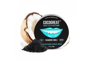 Зубний порошок Cocogreat для відбілювання зубів кокосовим вугіллям 30 г SKL30-150542