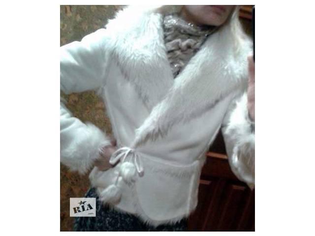 купить бу Белая итальянская дубленка, XS-M + подарок в Луцке