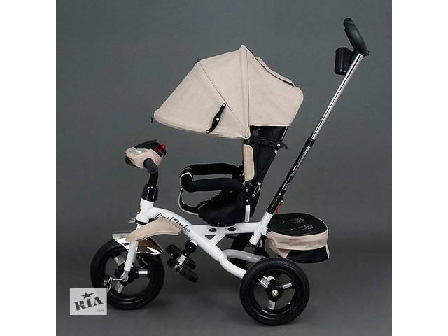 продам Детский трехколесный велосипед коляска BEST TRIKE 6595 (ПОВОРОТ, ФАРА, НАДУВНЫЕ КОЛЕСА) бу в Славянске