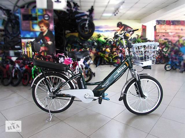 бу Электровелосипед Alisa 3 скоросная, колесо 22, 350 Вт, 48 В, green в Мукачево