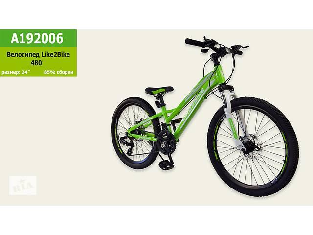 купить бу Спортивный велосипед колеса 24 дюймов A192006 Зеленый в Одессе